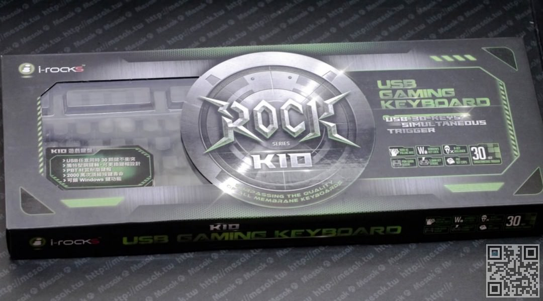 i-rocks K10 No key cap inscriptions